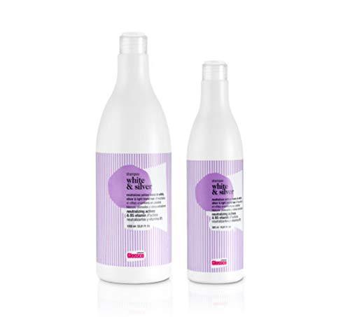 Glossco Champú White & Silver Cabellos Blancos, Decolorados y Rubios Extraclaros- 500ml