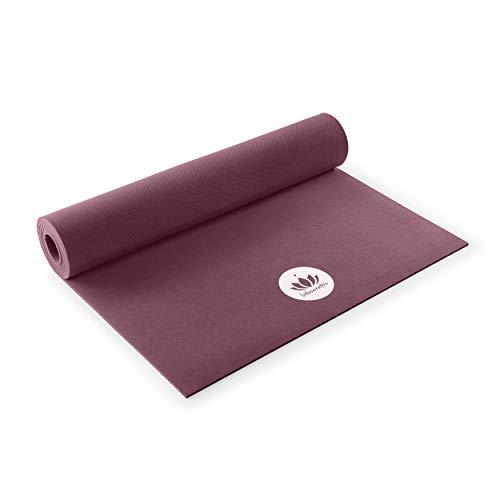Lotuscrafts Naturkautschuk Yogamatte Oeko - rutschfest - 100% natürlich & ökologisch - Profi Matte für Yoga & Pilates - ideal für dynamische Yogastile [180 x 61 x 0,4 cm]