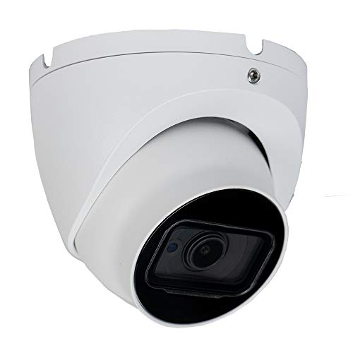 R-Tech 4K (8MP) 4-in-1 AHD/CVI/TVI/Analog Outdoor/Indoor Turret Dome Camera with Matrix IR Night Vision – 2.8mm Fixed Lens – White (Require 4K (8MP) or Higher Resolution DVR)