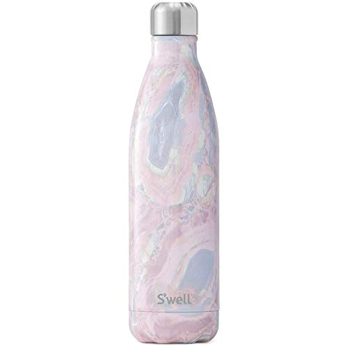 S'well Stainless Steel Water Bottle - 25 Fl Oz - Geode Rose - Triple-Layered Vacuum-Insulated Containers Keeps Drinks Cold for 48 Hours and Hot for 24 - BPA-Free - Perfect for the Go