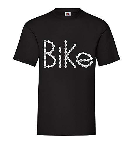 Generisch Bicicleta en Eslabones de Cadena Hombres Camiseta - shirt84 - Negro,...
