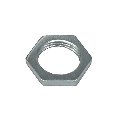 20x zeskantmoer M13 x 1 SW17 dikte 3 mm verzinkt staal zeer platte schroefmoer met fijne schroefmoer platte moer