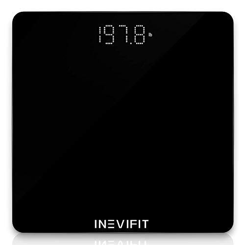 INEVIFIT Bathroom Scale Highly Accurate Digital Bathroom Body Scale Measures Weight for Multiple Users Includes a 5Year Warranty