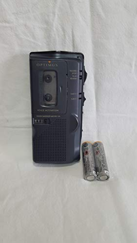 OPTIMUS Voice Activated Microcassette Tape Recorder MICRO-34