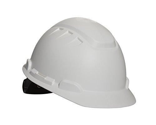 3M Elevated Temperature Hard Hat H-701T, White, 4-Point Ratchet Suspension