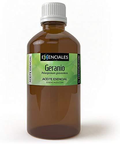 Essenciales - Huile essentielle de Géranium (Pelargonium graveolens), 200 ml   100% Pure et Naturel
