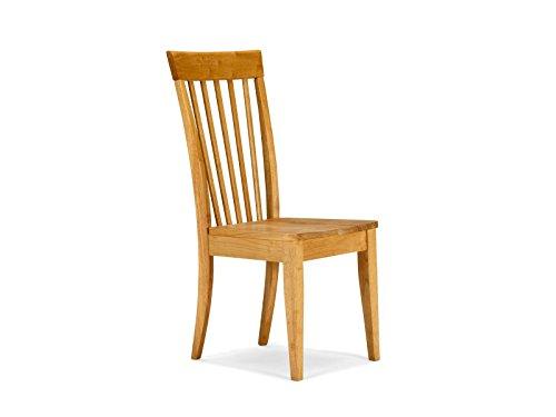 massivum Stuhl Meran natur 43x98x54 cm Rubberwood natur gebeizt und lackiert