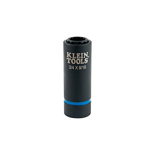 Klein Tools 2-in-1 Impact Socket, 12-Point, 3/4 and 9/16-Inch