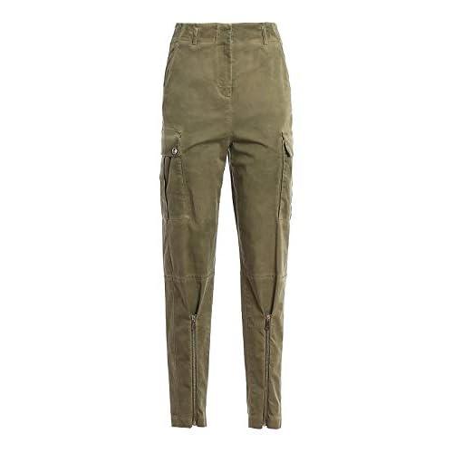 Pinko ACETO Pantaloni, Verde (Verde Tramonto U80), (Taglia Produttore:44) Donna