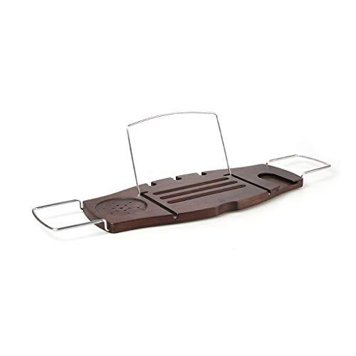 LIMING Badkuipplank hout badkuip badkuip van hout - bamboe badkamerrek verzonken telefoonhouder multifunctioneel tablet badkuiprek