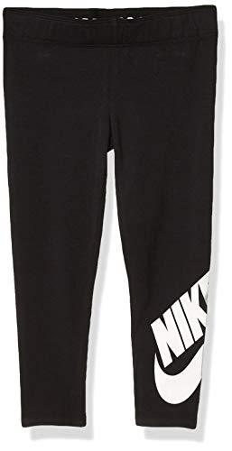 Nike Children's Apparel Girls' Toddler Sportswear Graphic Leggings, Black(26C723-023)/White, 4T