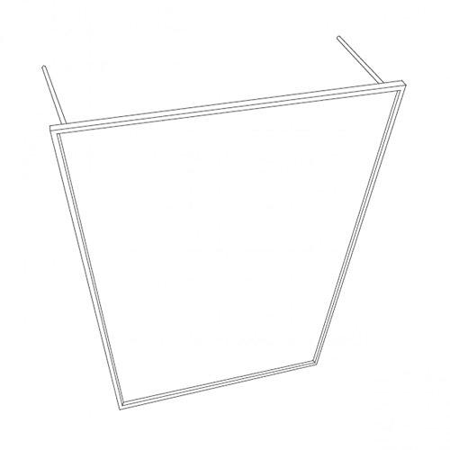 Modular Frames Leano Garderobe 100 x 30 cm, h 170 cm - schwarz
