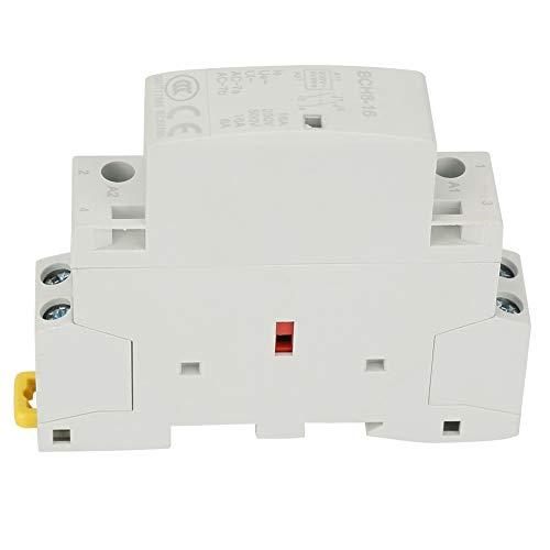Contactor de AC, 2P 16A 220V / 230V 1NO 1NC 50 / 60HZ Contactor de AC para uso doméstico en riel DIN
