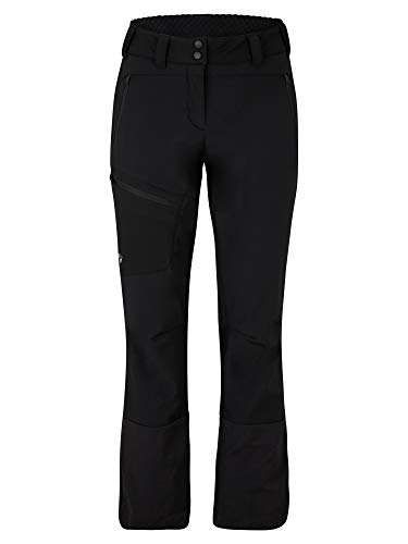 Ziener Damen NOLANE Softshell Hybrid Hose | Skitour, Winddicht, Elastisch, Funktionell, Black, 38