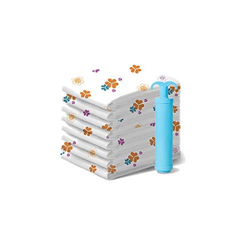 SFF Ropa Almacenaje Bolsas de Almacenamiento al vacío (8 x Jumbo) Bolsa de Ahorro de Espacio Bolsas de compresión Mantas Mantas Mantas Bomba de Mano Bolsas de Vacio (Color : Clear)