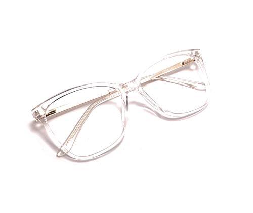 Óculos Armação Feminino Gatinho Com Lentes Sem Grau Ab-6815 Cor: Transparente