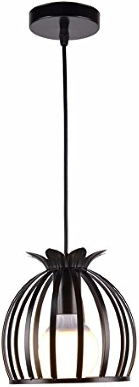 LighSCH Kronleuchter Pendellampe Restaurant Das moderne einfache Korridore Balkon Licht Schwarz 7W LED 18  18cm