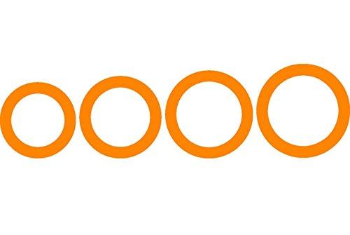 Fiskars ShapeCutter Schablone, Extra große Schablone zum Erstellen von Ringen, 4 verschiedene Größen, 1003834