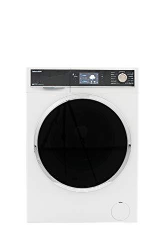 Sharp ES-HFT0148WZ-DE Waschmaschine Frontlader / A+++ / 10 kg / 1400 U/min. / 15 Programme inkl. Trommelreinigung  / DoubleJet - kraftvolle Reinigung / weiß [Energieklasse A+++]