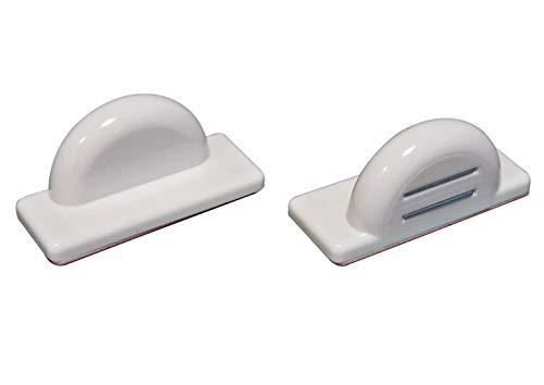 ps QUICKFIX-Magnethalter – Klebemagnet (2 Stück) für magnetische Jalousien-Unterleisten (Unterschienen) - selbstklebend als Pendelschutz bei Kippfenstern