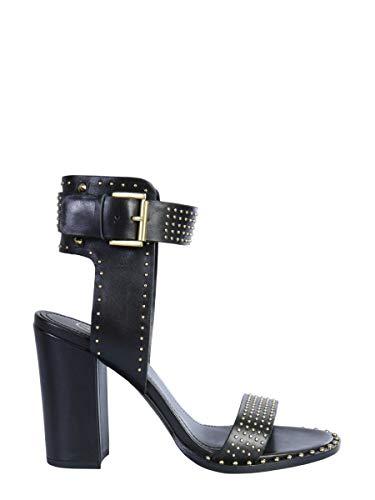Ash Luxury Fashion Femme LISA01 Noir Cuir Sandales   Printemps-été 20