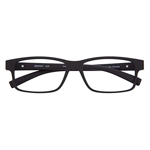 DIDINSKY Blaulichtfilter Brille für Damen und Herren. Blaufilter Brille mit stärke oder ohne sehstärke für Gaming oder Pc. Blendschutzgläser. Graphite +1.0 – THYSSEN