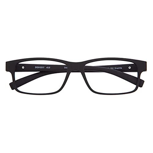 DIDINSKY Blaulichtfilter Brille für Damen und Herren. Blaufilter Brille mit stärke oder ohne sehstärke für Gaming oder Pc. Blendschutzgläser. Graphite +1.5 – THYSSEN