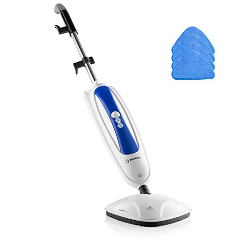 Reliable 200CU Steamboy Steam Floor Mop with 4 Microfiber Pads,1500W Steam Mop for Tile and Hardwood Floor, Fast Heat Up Floor Steamer mop, 180-Degree Swivel Head Tile Grout Cleaning Machine