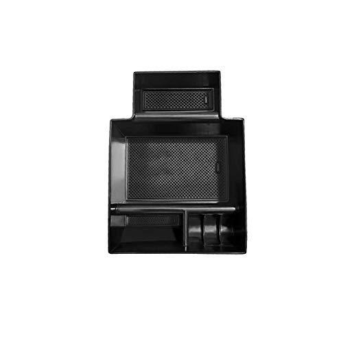 Tonyzhou Co.,ltd Caja de Almacenamiento para reposabrazos de Coche, para Seat Leon MK3 Leon Cupra 5F 2018 2019 Caja de Almacenamiento de Control Central, Accesorios Interiores de Coche, Negro
