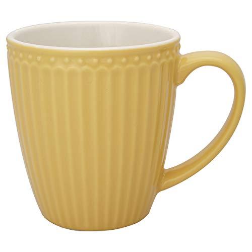 GreenGate Becher Alice Gelb 400 ml Kaffeebecher Everyday Geschirr Honey Mustard
