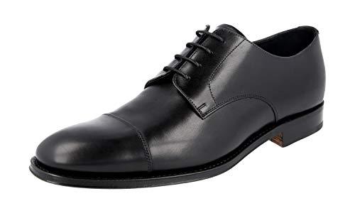 Prada Herren Schwarz Leder Business Schuhe 2EB130 070 F0002 40 EU / 6 UK