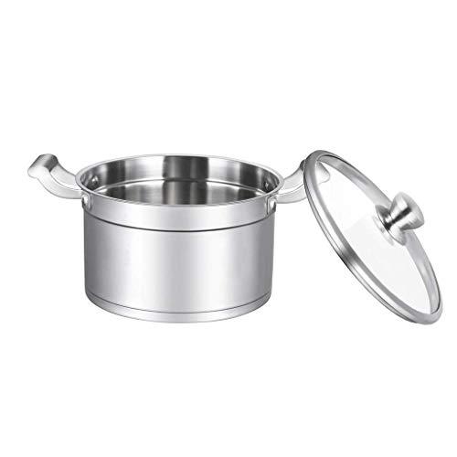 DYXYH Juego de ollas y sartenes de Utensilios de Cocina Multicapa Premium con Sistema de calefacción Multicapa, báscula de medición y Tapas de Vidrio,