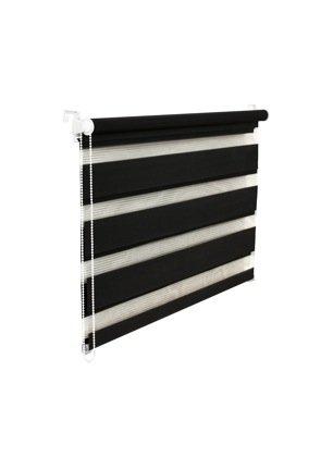 KS Handel 24 Store double avec cordon de serrage Noir 45 x 150 cm
