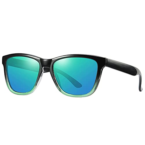 BDBY Gafas de Sol rectangulares para Mujer, Gafas de Sol polarizadas de Moda Retro, vidrios Anti-Ultravioleta 400 Cuadrados, Equipo de Viaje al Aire Libre S
