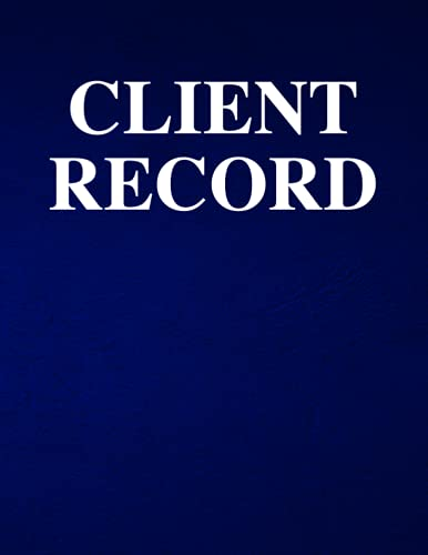 Client Record: Customer Record File For Service Business. Keep a permanent record of client name. ID, address, phone, email and service dates. Works for any service provider.