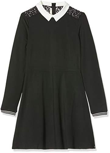 IKKS Junior Robe Dentelle Vestido, Negro (Noir 02), Medium para Niñas