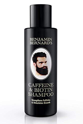 Koffein- Biotin-Shampoo für Männer gegen Haarausfall von Benjamin Bernard - zur Stärkung der Haarfollikel und Förderung des Haarwachstums - ohne Sulfat, ohne Paraben - 150 ml