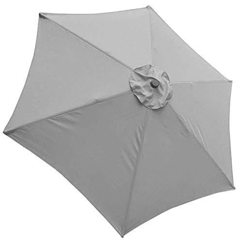 Garden Parasol Cantilever Umbrella 6 ribs Patio Umbrella Garden Outdoor Beach Waterproof Sun Shelter Cover Patio Umbrella Top Canopy Replacement Cover fit 9ft For Backyard, Pool Umbrella