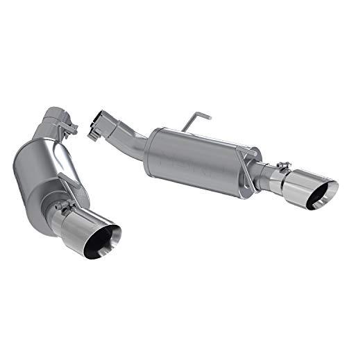 MBRP S7200AL Dual Mufflers Axle Back, Split Rear Exhaust System (Aluminized Steel)
