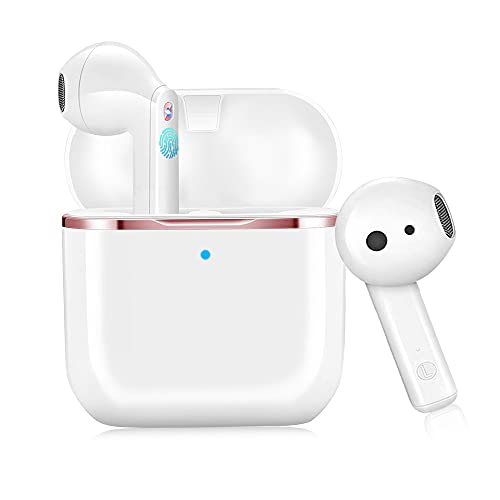 Auriculares Inalámbricos Bluetooth 5.1, In-Ear Auriculares Estéreo HI-FI con Micrófono IPX6 Impermeable de Reproducción 30 Horas Adecuado Fitness/Oficina/Viaje