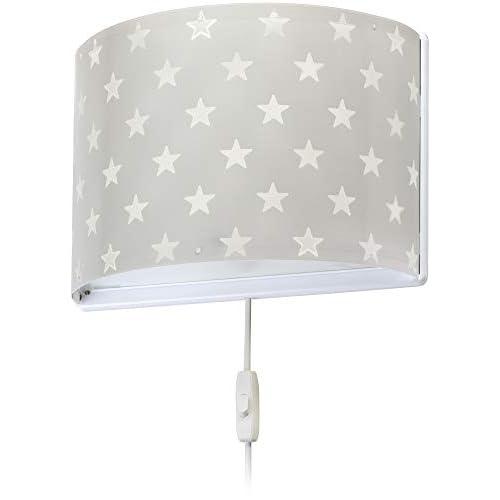 Dalber - Lampada da parete E-27, Stella grigia, Multicolore, 31 x 14.5 x 22.5