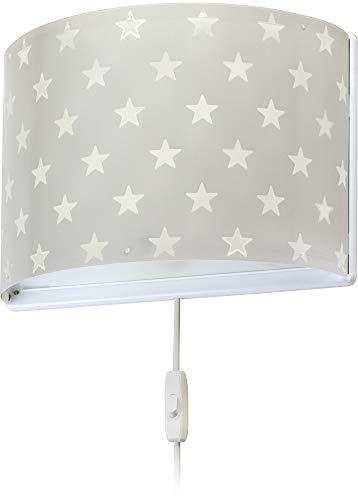 Dalber kinder Wandlampe, Kinderlampe Wandleuchte Sterne Stars Grau
