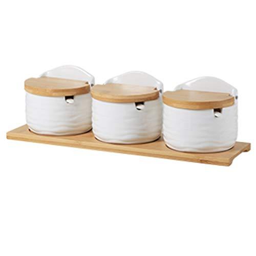 Keramik-Gewürztopf-Set, Keramik-Zuckerdose Mit Deckel Und Löffel, Keramik-Gewürzbehälter, Gewürzglas, Salzkeller Für Die Küche-C