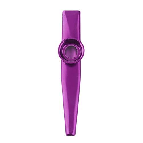 Ba30DEllylelly Regalo Creativo de la armónica del diafragma de la Flauta de Kazoo del Metal Amante de los niños
