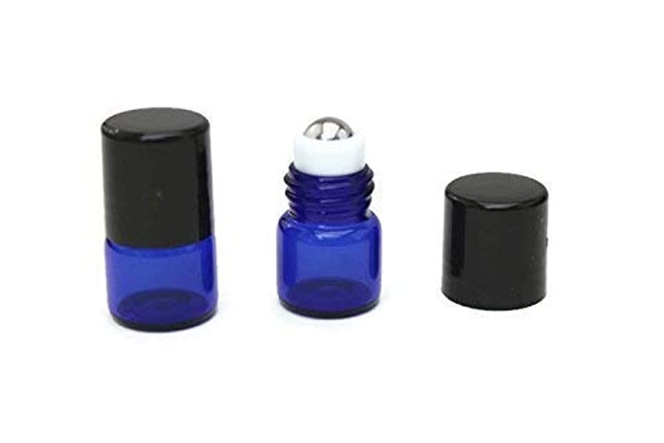先住民嵐の表面Essential Oil Roller Bottle 72-1 ml (1/4 Dram) COBALT BLUE Glass Micro Mini Roll-on Glass Bottles with Stainless Steel Roller Balls - Roll On (72) [並行輸入品]