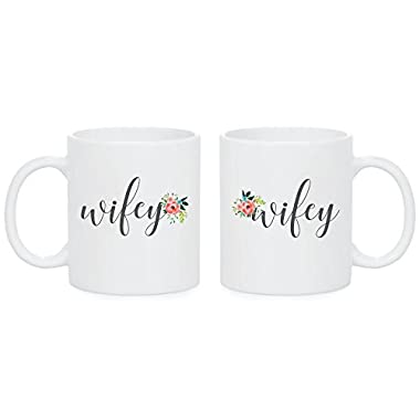 Hers and Hers Coffee Mugs Lesbians Gay