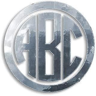 Eggleston Design Co. (Silver Chrome) Custom Circle Monogram Initials Vinyl Decal/Bumper Sticker for Cars YETI Cup Laptop (2