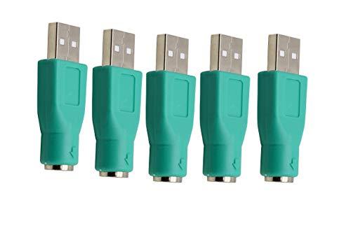 Adattatore KANGPING-USB maschio a PS2 femmina per mouse e tastiera (5pcs)