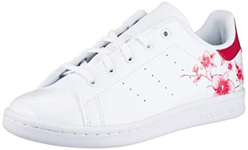 adidas Stan Smith, Scarpe da Ginnastica, Footwear White/Footwear White/Bold Pink, 37 1/3 EU