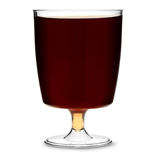 AIOS 1420 - Juego de 50 copas de plástico desechables, 200 ml, transparentes